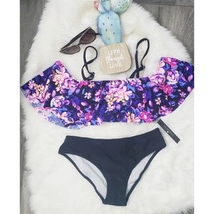 Other - Two Piece Floral Swimwear Bikini